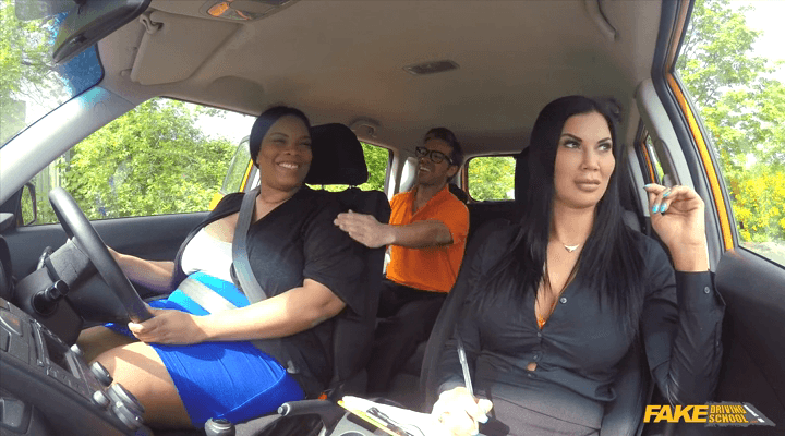 FakeDrivingSchool: Failed Learner Has Fun with Toys – Busty Cookie , Jasmine Jae