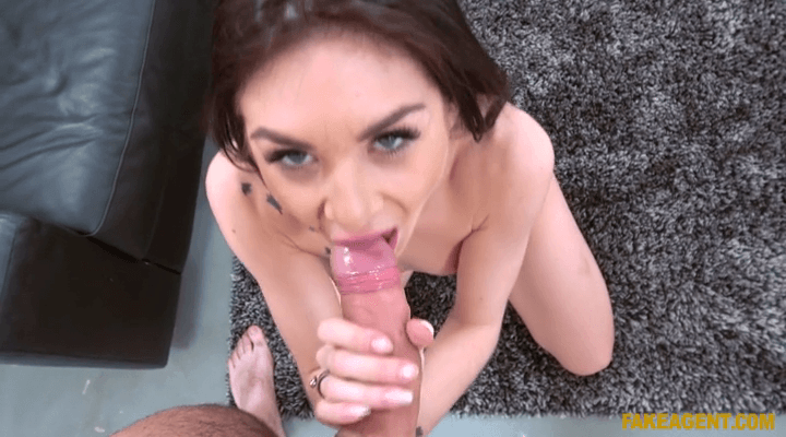FakeAgentUK: German Babe Wants to Try Porn – Lullu Gun