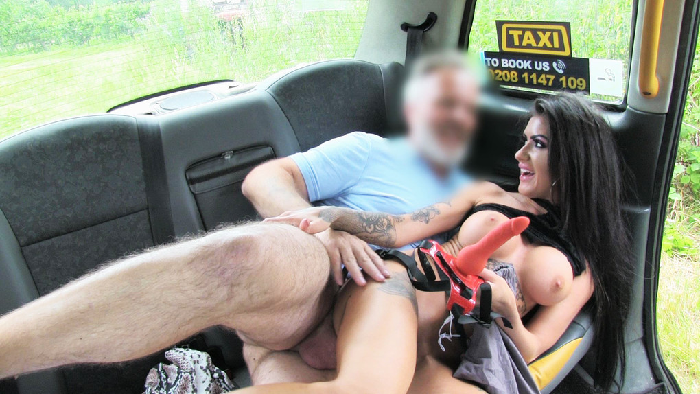 FakeTaxi :  Cheating Brunette in Anal Creampie – Emma Louise