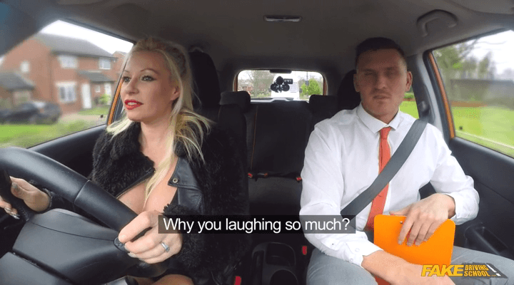FakeDrivingSchool – Michelle Thorne – Huge Tits MILF Pass After Creampie